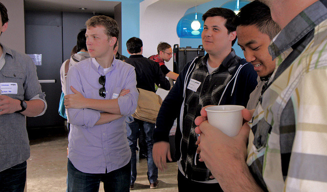 Kevin at CreativeMornings SF in 2011