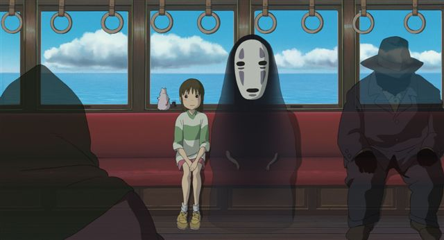 No Face on the train in Spirited Away...kind of like us...